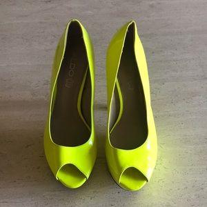Neon yellow Aldo heels